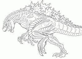 Tô Màu Godzilla - Tranh Tô Màu Cho Bé