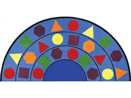 sitting shapes round classroom rug