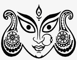 happy chaitra navratri durga maa face