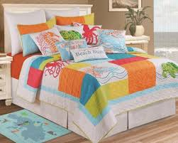 beach bedding queen ocean themed bedspreads cottage coastal quilt sets bedroom