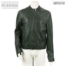 emporio armani emporio armani riders jacket leather genuine leather blouson black size 48 men s used apparel