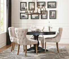 round dining table set with leaf foter formal dining room