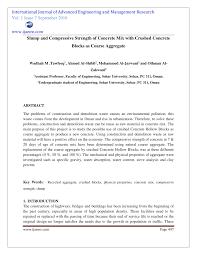 Concrete Mix Design Conclusion Pdf Slump And Compressive Strength Of Concrete Mix With
