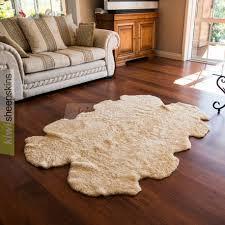 natural shape curly wool sheepskin rug quarto honey