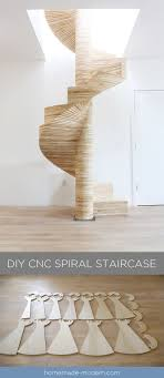 This CNCed Spiral staircase was made using the X-Carve by Inventables.com  and. Diy CncDiy RouterDiy Furniture ModernPlywood ...