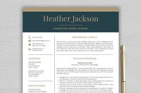 This classic and stylish teacher resume template free option will be a great attribution to your future professional goals. Resume Template Teacher Resume Creative Resume Templates Creative Market