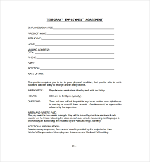 Temporary Employment Contract Template 8 Temporary Employment Contract Templates Word Pages