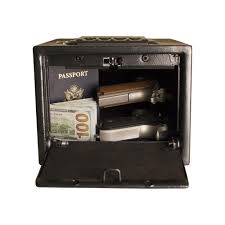 tracker safe 0 24 cu ft quick access safe electronic lock black