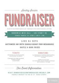 Fundraising Flyer Sunday Session Fundraiser Event Flyer Proudly Bought To You By St 3