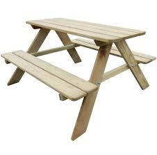 kids picnic table outdoor garden patio wooden bench childrens furniture new