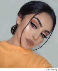 black hair and glam makeup