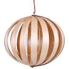 wooden pendant light