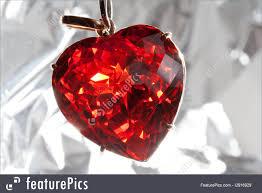 fashion accessories red precious stone pendant in heart shape