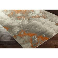 grey and orange area rug burnt orange and grey area rugs