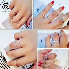 <b>ORSA JEWELS 925 Sterling</b> Silver Rings Women Classic Round ...