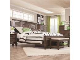 Louvered Bedroom Furniture Coaster Franco Queen Bed With Louvered Panel Headboard Del Sol