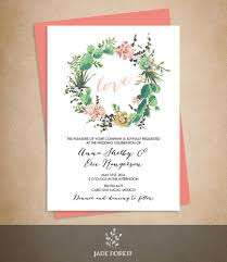 Floral Wedding Invitation Diy Pink Flowers And Cactus