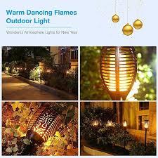 tiki lighting. Outdoor Solar Flickering LED Tiki Torches , Powered Lights Lighting