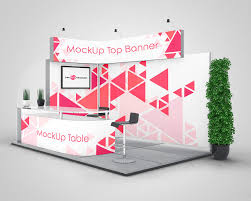 Free In Design 3 Exhibition Stand Mock Ups Free In Psd Promotional Stands