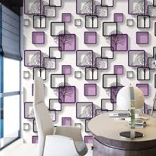 Goede Koop Wit Paars Blauwe Moderne 3d Behang Voor Woonkamer