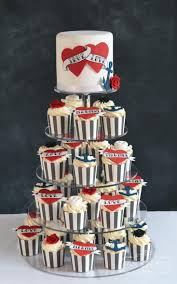 Tattoo Wedding Cake Cupcakes Rockabilly Wedding Cakes Favours