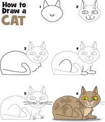 Gambar kucing yang mudah digambar