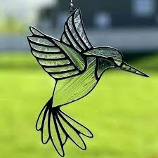 stained glass hummingbirds hummingbird pattern birds on a wire easy