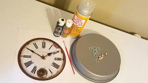 DIY Vintage Steampunk inspired Home Clock Wall Decor