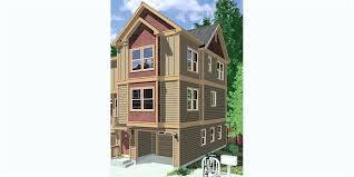 three story home plans 4 narrow lot duplex house plans and zero line 3 story home