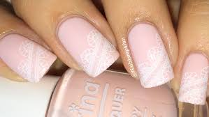 Bridal Nails, Wedding Nails, Lace Nails: Nail Stamping - YouTube