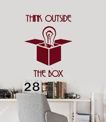 office wall stickers. Wall Vinyl Decal Quotes Think Outside The Box Office Decor Unique Gift Z3956 Stickers 4