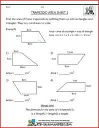 Trapezoid Area Worksheet, printable shape worksheets 5th grade ...Trapezoid Area Worksheet, printable shape worksheets 5th grade
