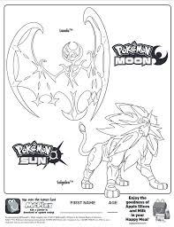 Here Is The Happy Meal Pokemon Sun And Moon Coloring Page Click The