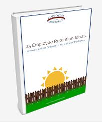 book with a front cover le 25 employee retention ideas to keep the gr greener