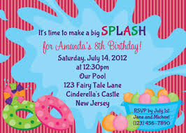 printable swimming pool birthday party invitations custom printable pool party birthday invitations bagvania