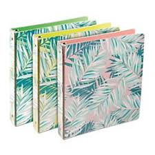 2in Binder R Tropical Palm Round Ring Fashion Binder 1 1 2in Rings
