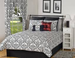 black and white comforter sets full bedding bedspreads bed skirts size