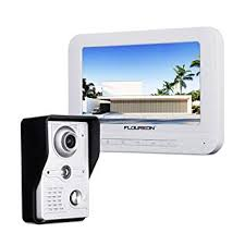 FLOUREON <b>7 Inch</b> Video Doorbell Phone System, Clear <b>LCD</b>