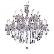 large chandeliers 18 light zurich in chrome