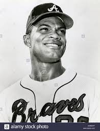 Vintage black and white photo of Atlanta Braves player Felipe Alou circa  1969 Stock Photo - Alamy