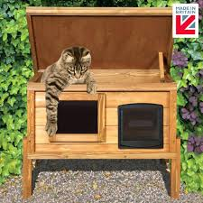 cozy outdoor cat tree house collection external self heating outdoor cat house kennel with one way cozy outdoor cat tree house