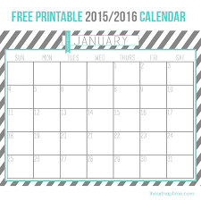 Printable 2015 Calendars By Month You Can Write On 2016 Print Calendars By Month Calendar