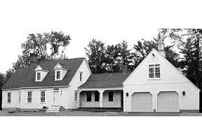 Cape Cod House Plans   e ARCHITECTURAL designPlan W CC  Expanded Cape Cod Classic