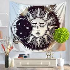 indian hippie psychedelic sun moon