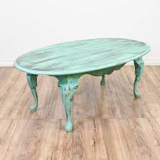 Check out our distressed coffee table selection for the very best in unique or custom, handmade pieces from our coffee & end tables shops. Light Teal Shabby Chic Oval Coffee Table Loveseat Online Auctions San Diego