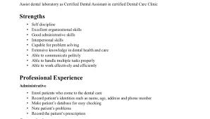 dental assistant resume objective writing resume sample certified dental assistant resume