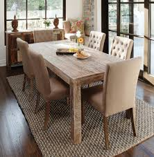 comfy dining room chairs. Rustic Dining Room Chairs New At Cute With 7 Pieces Sets Simple Worn Out Look Table And Beige Cushioned On Handmade Rugs Hardwood Floor Comfy