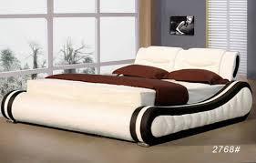 new style bedroom furniture. Luxury Leather Bed Style New Bedroom Furniture E