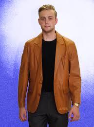 higgs leathers miles men s tan nappa leather blazer jackets