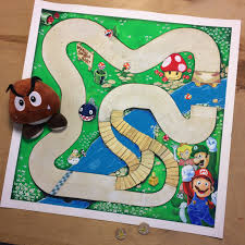 Here is a homemade Mario Kart board game that I made for my kids several  years